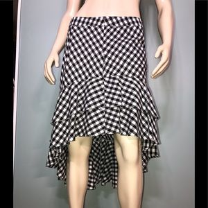 A NEW DAY • Gingham Hi-Lo Midi Skirt / size (12)